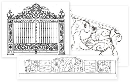 и фотографии кованых ворот