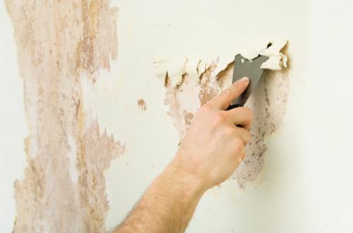 Удаление обоев для покраски стен какой материал наклеивается на наливной пол